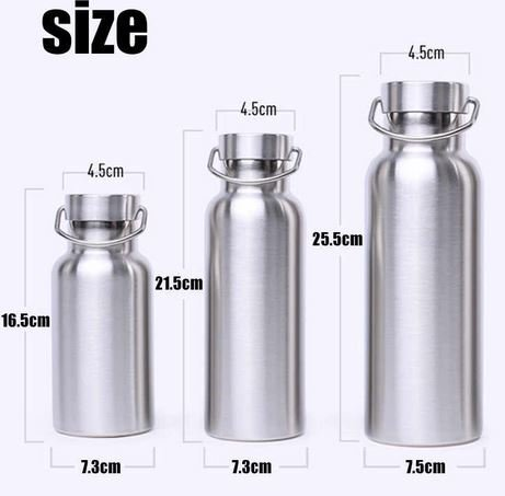 Sizes of stainless steel water bottle