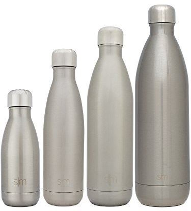 Different sizes of water bottle